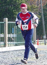 Eric Pevoto finishing at Fair Hill, photo by Kent Shaw