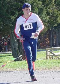 Florin Tencariu finishing at Fair Hill, photo by Kent Shaw