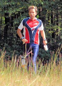Wyatt Riley finishing the US Sprint Championship, photo by Julie Keim