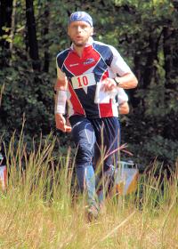 Vadim Masalkov finishing the US Sprint Championship, photo by Julie Keim