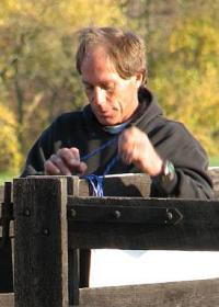 Mark Cornish working at the Fair Hill Sprint-O, photo by Julie Keim