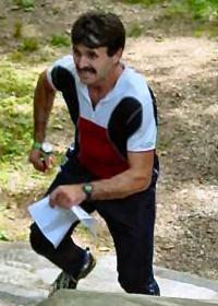 Mihai Veres on the Sprint-O course at Ridley, photo by John De Wolf